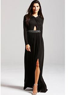 little-mistress-black-embellished-cut-out-maxi-dress