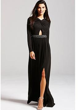 little-mistress-black-embellished-cut-out-maxi-dress