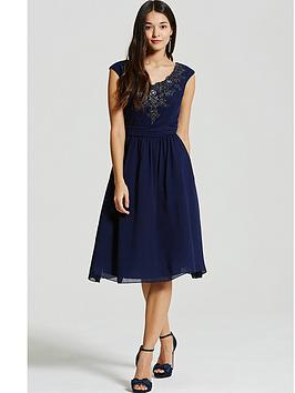 little-mistress-navy-embellished-fit-and-flare-dress