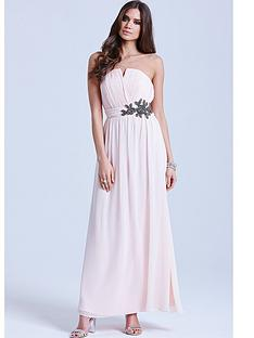 little-mistress-nude-floral-embellished-bandeau-maxi-dress