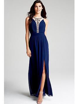 little-mistress-navy-embellished-mesh-maxi-dress