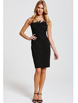 paper-dolls-black-mesh-insert-wiggle-dress