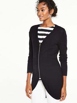v-by-very-curved-hem-rib-waist-zip-front-cardigan