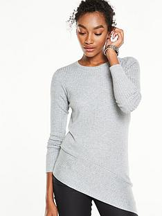 v-by-very-asymmetric-panelled-rib-jumper