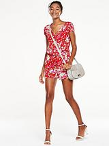 Wrap Front Jersey Playsuit