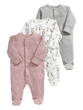 mamas-papas-baby-girls-deer-sleepsuitsnbsp3-pack