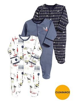 mamas-papas-baby-boys-busy-city-boys-sleepsuitsnbsp3-pack