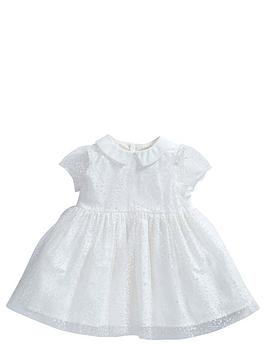 mamas-papas-baby-girls-flocked-spot-dress