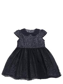 mamas-papas-baby-girls-flocked-spot-dressnbsp