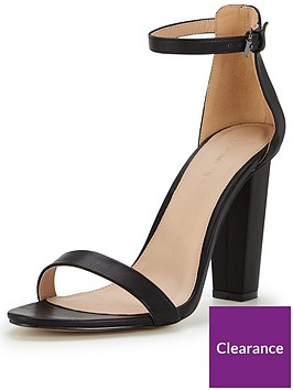 V Petals With Ankle Block Sandal Strap Very By Heeled 7gbfyY6
