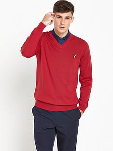 lyle-scott-golf-nevis-v-neck-merino-pullover