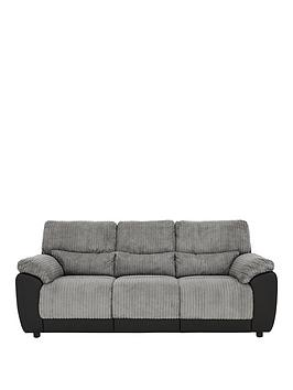 Very Sienna Fabric/Faux Leather Static 3 Seater Sofa Picture