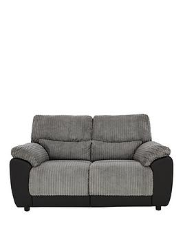 Very Sienna Fabric/Faux Leather Static 2 Seater Sofa Picture