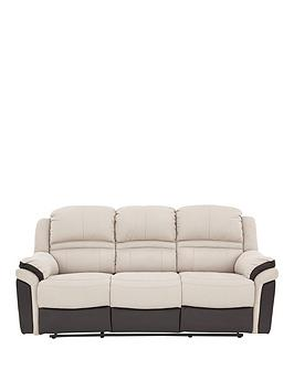 Very Petra 3 Seater Manual Recliner Sofa Picture