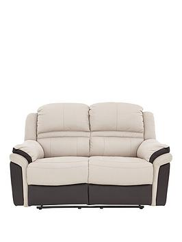 Very Petra Fabric And Faux Leather 2 Seater Manual Recliner Sofa Picture