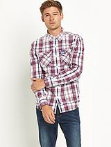 Mens Washbasket Long Sleeve Check Shirt