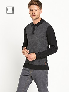 ben-sherman-knitted-long-sleeve-polo