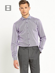 remus-uomo-tapered-fit-lilac-check-shirt