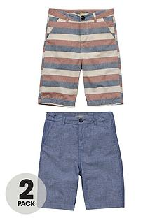 demo-boys-colour-and-stripe-and-chambray-shorts-2-pack