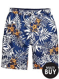 demo-floral-print-swim-shorts