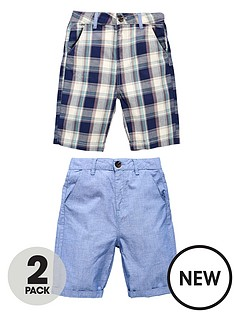demo-boys-check-chambray-shorts-2-pack