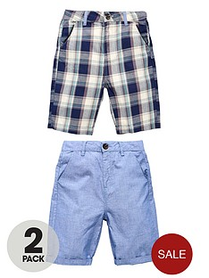 demo-boys-check-chambray-shorts-2-pack