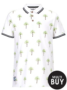 demo-short-sleeve-palm-print-polo-shirt