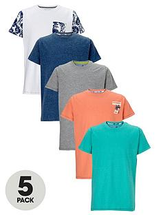 demo-boys-palm-print-and-colour-t-shirts-5-pack