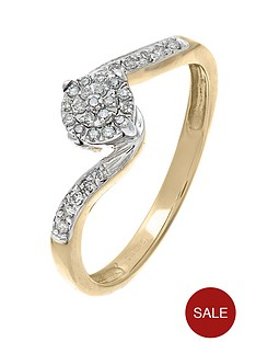 love-diamond-9-carat-yellow-gold-12-point-cluster-ring-set-in-a-twist