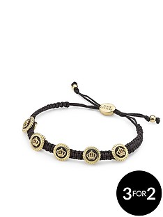 juicy-couture-status-coin-friendship-bracelet-black