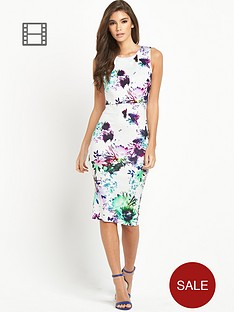 ax-paris-pastel-floral-overlay-midi-dress
