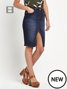 river-island-denim-pencil-skirt