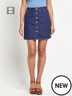 river-island-a-line-button-through-denim-skirt