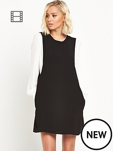 river-island-contrast-sleeve-shift-dress