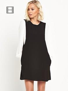 river-island-contrast-sleeve-shift-dress