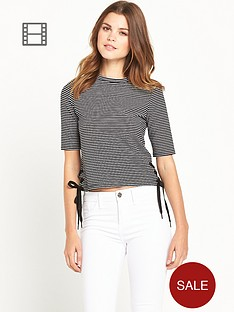 river-island-stripe-tie-side-t-shirt