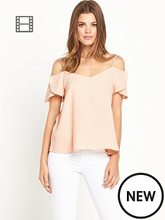 river-island-short-sleeve-coral-cami-top