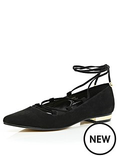 river-island-rude-lace-up-ballerina-shoes