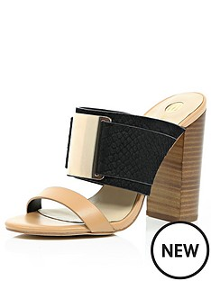 river-island-double-strap-wood-heel-mules