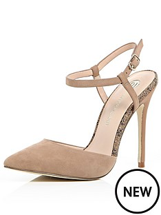 river-island-stompy-ankle-strap-point-court-shoes