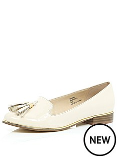 river-island-patent-nude-tassle-loafers