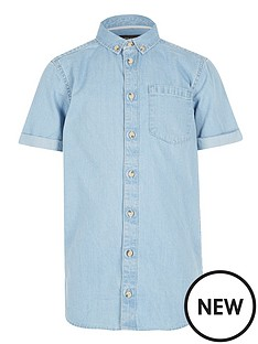 river-island-boys-short-sleeve-denim-shirt-light-wash