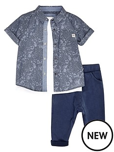 river-island-mini-denim-shirt-3-piece-set