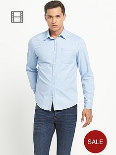 river-island-mens-long-sleeve-grandad-bleached-denim-shirt
