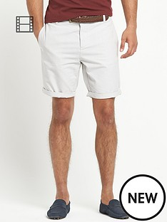 river-island-mens-spider-belted-oxford-shorts