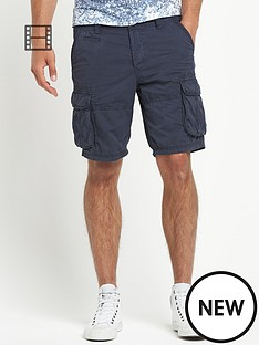 river-island-mens-blizzard-cargo-twill-shorts
