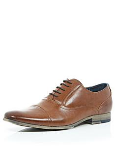 river-island-mens-oxtord-toe-cap-shoes-tan