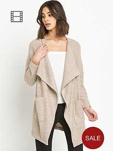river-island-camel-fallaway-knitted-jacket