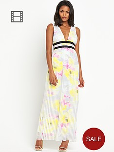 river-island-pleated-deep-v-neck-maxi-dress