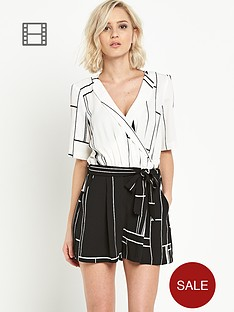 river-island-check-wrap-colourblock-playsuit